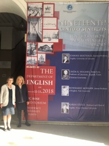Here they are next to a rather impressive poster advertising the conference!