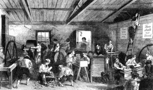 Brook Street ragged school, The Work Room