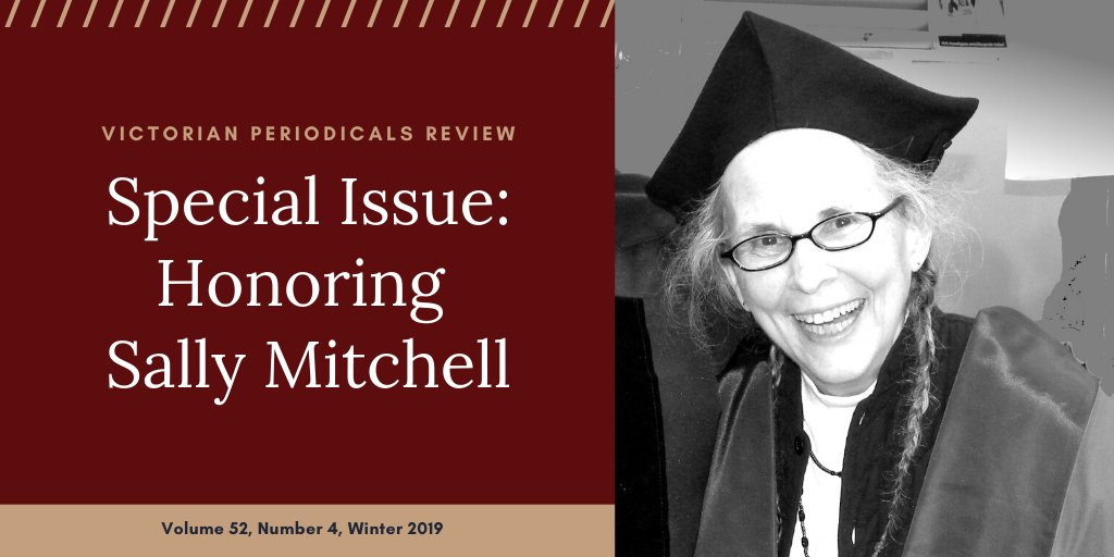 Cover of VPR special issue honoring Sally Mitchell (Winter 2019)